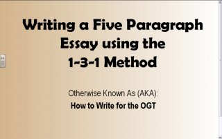 1-3-1 Five Paragraph Essay - TeacherTube