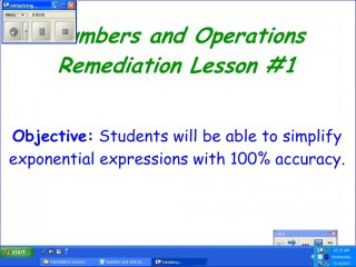Numbers and Operations Remediation Lesson #1