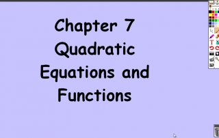 7-1 Completing the Square