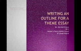 theme essay outline teachertube
