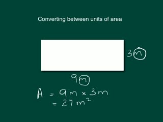 Converting between metric units of area