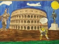 Which Statue Goes in Front of the Colosseum?