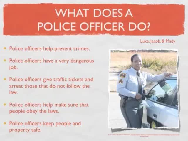 police officers community helpers mcfarla
