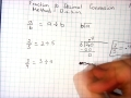converting fractions to decimals division method
