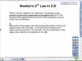 Newton's 2nd Law in 2-D Lesson