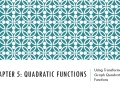 Using Transformations to Graph Quadratic Functions