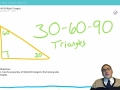 Lesson 56 - 30 - 60 - 90 Triangles