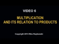 Multiplication and its relation to products