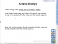 Kinetic Energy Lesson
