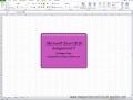 Excel Lesson 7 Tutorial