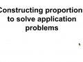 Constructing proportions to solve application problems