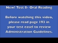 Test 8 - Oral Reading