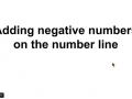 Adding negative numbers on the number line