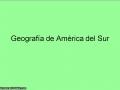 Geografia de America del Sur