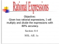 Multiplying and Dividing Rational Expression
