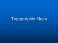 Topographic Notes