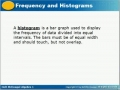 Frequency and histogram 3