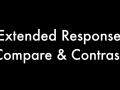 compare & contrast response