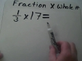 Multiply a fraction and a whole number
