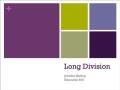 3rd Grade Math - Long Division