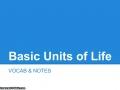 Basic Units of Life NOTES