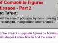 Area of Composite Figures - Part 2 Lesson