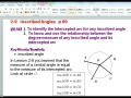 2.9 Inscribed Angles