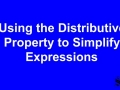 11.2 Lesson 2 - Distributive Property