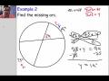 Circle angles IV (Vertex inside the circle)