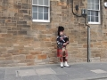 Bagpipes on the streets of Edinburgh