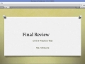 Pre-Algebra B: Final Exam Review & Practice Test