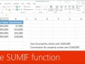 The SUMIF function