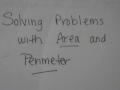 Perimeter and Area Problems