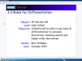 3.3 Rules for Differentiation - Part 1