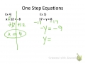 How to Solve One Step Equations