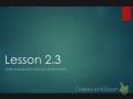 Lesson 2.3 Part 1