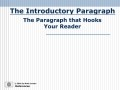 Introductory Paragraph Test Run