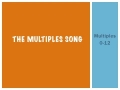 The Multiplication Song - Learn Your Facts Faster