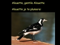 Alouette Sing-along (slower version)