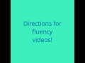 Fluency center directions