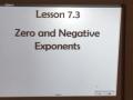 HW 11.17.15 Lesson 7.3 Zero & Negative Exponents