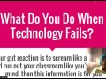 What Do You Do When Technology Fails?