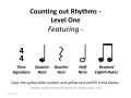 Counting Out Rhythms - Level One