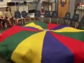 """15-16 Mr. Savage's (Ms. Brown) 3rd grade class """"Russian Dance"""" Parachute from the Nutcracker"""