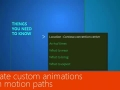 Create custom animations with motion paths