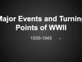 World War II Events and Turning Points