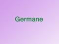 Germane SAT Vocab. Word