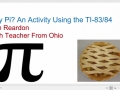 Why Pi - An Activity for the TI-83/84