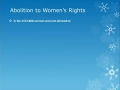 Women's Rights Reform Movement 1800s Revised
