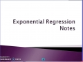 Exponential Regression Notes